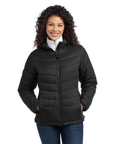 Port Authority Women's Mission Hooded Puffy Jacket. L313 Port Authority. $64.99