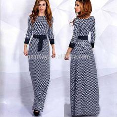 Xl Wholesale Ladies Arabic Muslim Casual Rayon Spandex Long Sleeve Cotton Maxi
