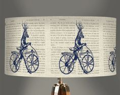 Alice in wonderland decor alice lampshade alice by FabFunkyPillows
