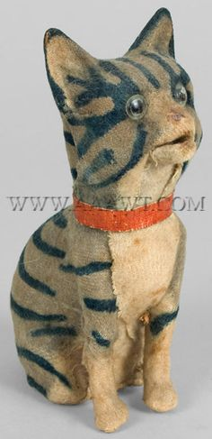Antique Squeak Toy, Meowing Cat.  Just look at that face, it's full of character.
