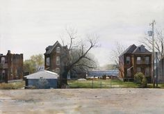By Dean Mitchell, from Pittsburgh, Pennsylvania (current location, Tampa, Florida) (b. 1957) - watercolor -