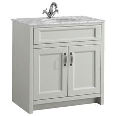 Chatsworth Grey 810mm Vanity with Marble Basin Top