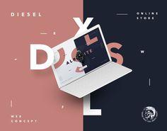 "Vedi questo progetto @Behance: ""Diesel Store Web Concept"" https://www.behance.net/gallery/58761347/Diesel-Store-Web-Concept"