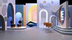87 projects   Behance 上的照片、视频、徽标、插图和品牌 Tv Set Design, Stage Set Design, Set Design Theatre, Stand Design, 3d Design, Architecture Collage, Architecture Design, Furniture Sets Design, Exhibition Stall Design