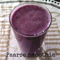 Faves: ontbijtjes & smoothies - paarse smoothie - Watzijzegt.com