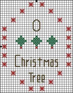 Free Cross Stitch Pattern - O Christmas Tree: Free Cross Stitch Pattern - O Christmas Tree - Solid Color Pattern