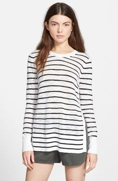 Perfect lightweight sweater for the beach. Madewell 'Juno' Stripe Pullover available at #Nordstrom