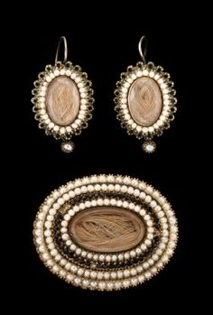 Victorian mourning jewelry, circa 1860, Victorian
