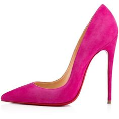 So Kate 120 Ultra Rose Suede - Women Shoes - Christian Louboutin (4,925 GTQ) ❤ liked on Polyvore featuring shoes, pumps, rose shoes, pointed toe high heels stilettos, christian louboutin shoes, pointy toe stiletto pumps and stiletto shoes