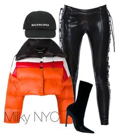 """""""Untitled #910"""" by mizzbehave on Polyvore featuring Faith Connexion, Diesel and Balenciaga"""