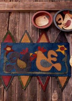 Image detail for -Penny Rugs ~ Patterns ~ Applique, Quilting, Knitting, Wood Felt Embroidery, Felt Applique, Applique Patterns, Print Patterns, Felt Fabric, Wool Fabric, Felt Crafts, Fabric Crafts, Quilting Projects