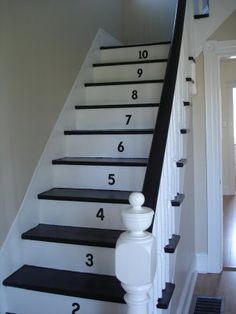 trim on side of stairs