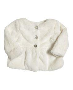 Baby Girl's Fur Bubble Jacket - Bardot Junior
