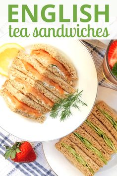 Possibly the EASIEST sandwiches ever! English Tea Sandwiches filled with a variety of delectable fillings will be your go-to easy summer sandwich! English Tea Sandwiches, Tee Sandwiches, Wimbledon, Sandwich Fillings, Sandwich Recipes, Vegetable Side Dishes, Appetizers For Party, High Tea, Seafood Recipes