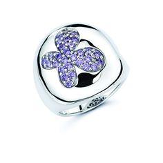 2a98e9ba7 Lotopia Purple Swarovski Zirconia Bold Butterfly Ring (Size 5), Women's,  White Gemstones