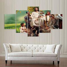 5 Pieces Jesus Pueblo Painting Wall Art