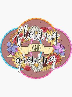 """Flowing and Growing, flow arts"" Sticker by katieharperart Hula Hoop Workout, Surfer Magazine, Flow Arts, Canvas Prints, Art Prints, Romantic Travel, Sticker Design, Handmade Art, Hand Lettering"