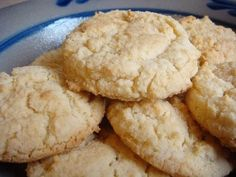 Almond vanilla Cookies used 1 1/4 cups of flour (half coconut flour, half almond flour). Added a splash of lemon, some coconut flakes, and omitted the sweetener for our batch.