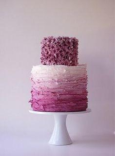 image of Ombre Wedding Cake Design