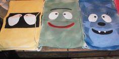 yo gabba gabba soft bags