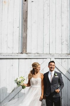 carly + cameron | Penelope Gown by Watters for BHLDN | image via: junebug weddings | #BHLDNbride
