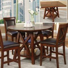 Alpine Furniture 258-22 Oberlin Flip Top Counter Height Table
