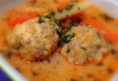 Transylvanian meatball soup with tarragon Hungarian Cuisine, Hungarian Recipes, Hungarian Food, Pasta Recipes, Cooking Recipes, Meatball Soup, Veggie Soup, Yummy Food, Tasty