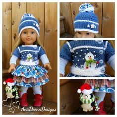 Complete snowman winter christmas outfit for 18 inch doll - american girl doll | eBay