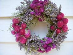 Herb wreath on a moss covered vine for anywhere in your home