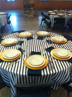#navy #nautical #wedding Paired with the gold accents this theme was executed perfectly!