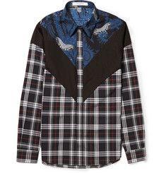GivenchyPrinted Checked Cotton Shirt