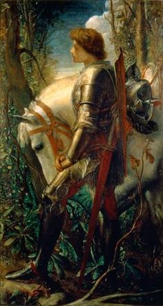 Sir Galahad by George Frederic Watts ::  War is an ugly thing, but not the ugliest of things: the decayed and degraded state of moral and patriotic feeling which thinks nothing worth a war, is worse.   ~John Stuart Mill