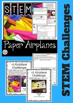 Paper Airplane STEM Challenges is a packet of experiments your students will love! Flying and creating paper airplanes is a fun activity that will engage your students as they collect data and use measurement skills. These activities can also be used for STEAM Activities, Maker Spaces, Tinkering Labs, Summer Programs, or After School Clubs.