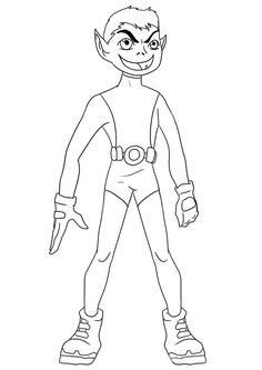 beast boy teen titans coloring pagesjpeg 867