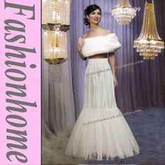 Mermaid bridal crinoline slip wedding dress underskirt petticoat AP009 $15~$28