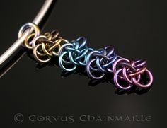 Chainmaille weave Persephone in niobium - Corvus Chainmaille