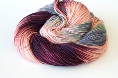 Anastasia dyed to order hand painted variegated super wash