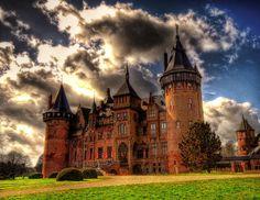 castle De Haar, Utrecht, the Netherlands (The clouds are spectacular too.)