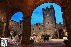 Reception in this Medieval Tuscan Castle - Siena, Italy