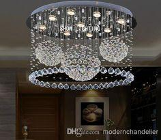 Dia 60cm80cm led rgb chandelier modern crystal chandeliers lamp hot sales three ball luxury k9 crystal home chandeliers dinning room living room crystal light l800w400h600mm aloadofball Gallery