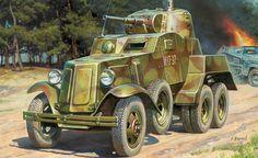 Советский бронеавтомобиль БА-10М.