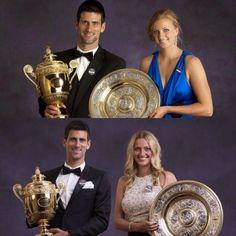 2011 vs. 2014 - who wins? #novakdjokovic #petrakvitova #wimbledon