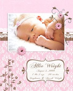 baby girl scrapbook layouts - Google Search ( great idea!)