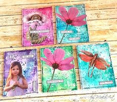 "My mixed media ATC set ""Calling for spring"" Welcome to my blog! Today I would like to share with you my latest spring mixed media cards and ATC set, made for ScrapArt.cz . These c..."