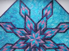 Geometric Quilted Table Topper  Split Diamond by MooseCarolQuilts, $110.00