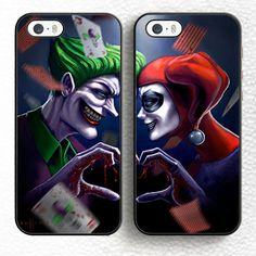 2pcs/lot joker harley quinn best friends Soft Rubber Phone Case For iPhone 6 6S Plus 7 7 Plus 5 5S 5C SE 4S Back Shell Cover