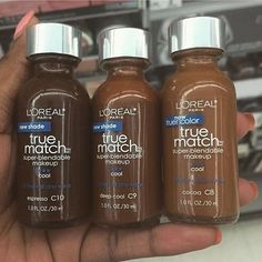 Loreal true match foundation available for only retail. Makeup Goals, Makeup Inspo, Makeup Inspiration, Makeup Tips, Makeup Stuff, Black Girl Makeup, Girls Makeup, All Things Beauty, Beauty Make Up