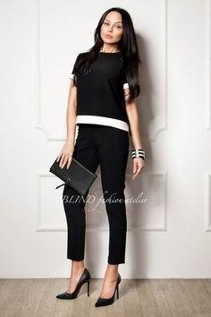 00010 - чёрный,белая окантовка,контрастная окантовка,женский костюм,деловой костюм