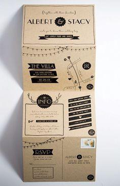 Já imaginou um convite de casamento em madeira? Pois é isso que encontramos na seleção dos convites mais pinados em Portugal. Vem conferir