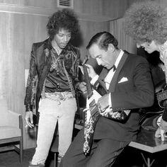Jimi Hendrix with Jeremy Thorpe